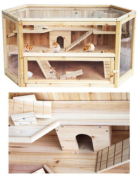 jaula de madera para jerbo